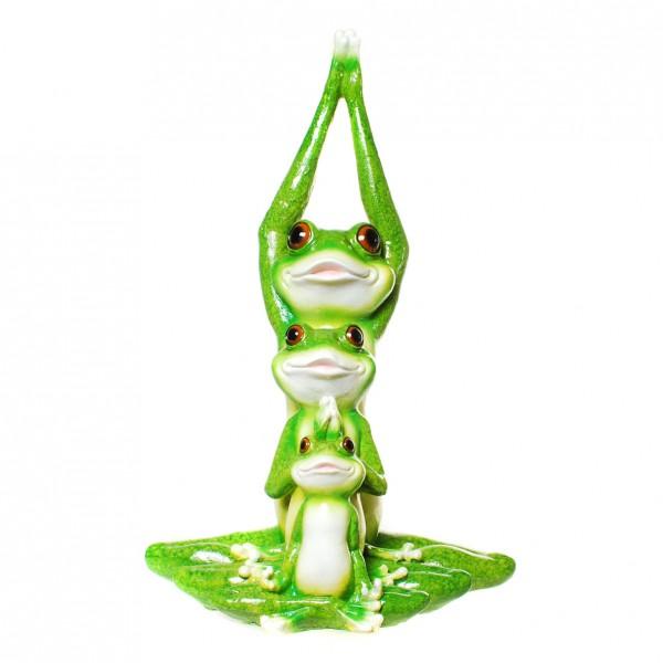 Frosch yoga familie figur gartenfigur frosch ebay for Frosch figur garten