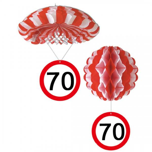 Geburtstag h nge deko ballon und fallschirm 70 jahre party for Deko 70 geburtstag