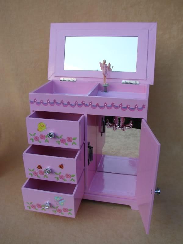 schmuckschrank prinzessin f r kinder schmuckk stchen neu ebay. Black Bedroom Furniture Sets. Home Design Ideas