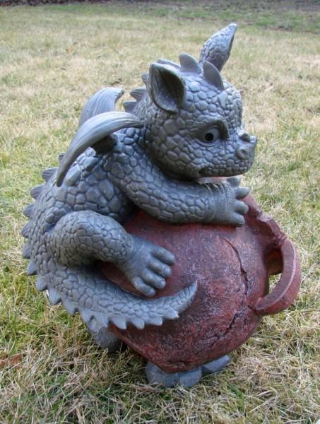 Gartendrache Mit Blumentopf B Drache Figur Gargoyle Ebay