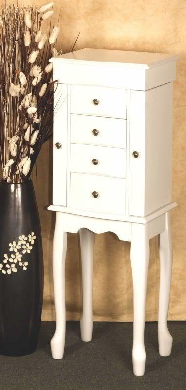xxxl schmuckkommode weiss echtholz schmuckschrank neu ebay. Black Bedroom Furniture Sets. Home Design Ideas