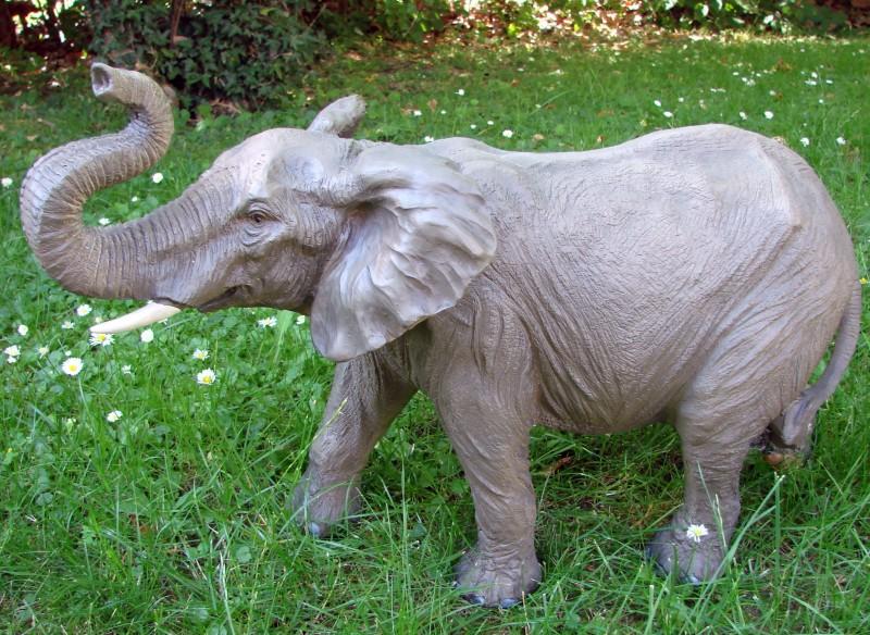 xxl elefant jumbo afrika figur skulptur tierfigur top ebay. Black Bedroom Furniture Sets. Home Design Ideas