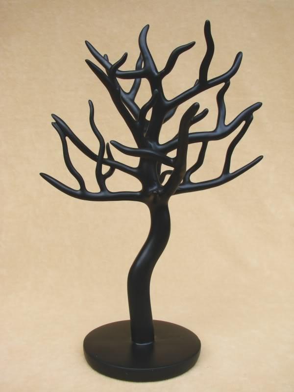 schmuckbaum schwarz schmuckhalter schmuckhand kette top ebay. Black Bedroom Furniture Sets. Home Design Ideas