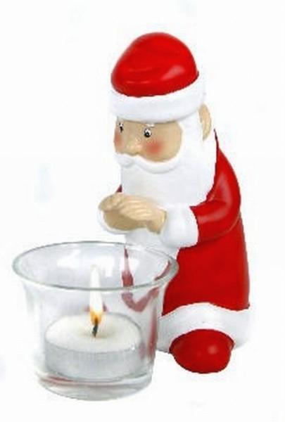 teelichthalter santa weihnachtsmann weihnachten teelicht. Black Bedroom Furniture Sets. Home Design Ideas