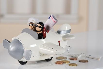 spardose hochzeitsflieger geldgeschenk figur hochzeit heirat. Black Bedroom Furniture Sets. Home Design Ideas