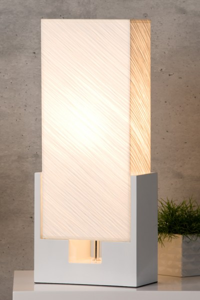 stylische tischlampe infinity h he 60 cm wohnzimmer esszimmer b ro lampe kaufen bei. Black Bedroom Furniture Sets. Home Design Ideas