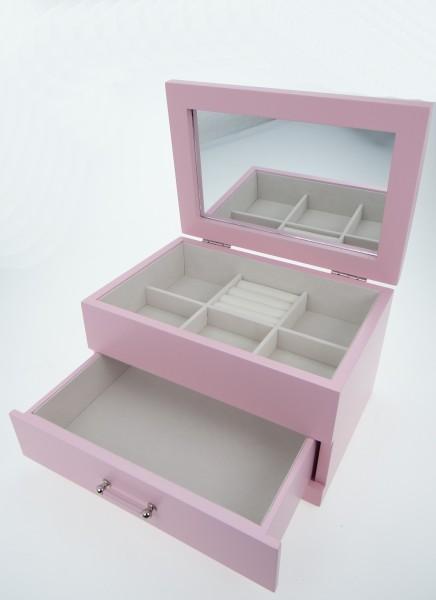 schmuckkastchen holz basteln, schmuckkästchen sophia pastel collektion rosa holz schmuckkasten   ebay, Innenarchitektur
