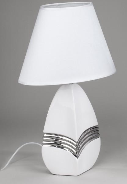 Tischlampe silver h he 46 cm wohnzimmer schlafzimmer lampe - Schlafzimmer tischlampe ...