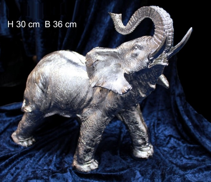 elefant jumbo silber afrika figur skulptur tierfigur ebay. Black Bedroom Furniture Sets. Home Design Ideas