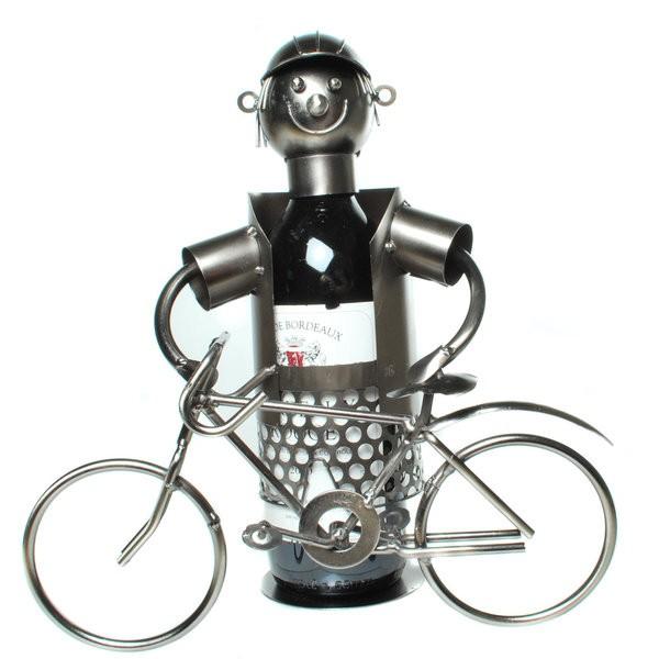 flaschenhalter fahrradfahrer fahrrad weinflaschenhalter wein weinst nder ebay. Black Bedroom Furniture Sets. Home Design Ideas