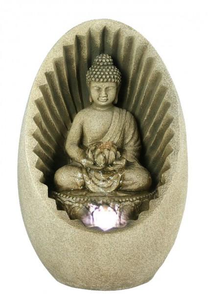 toller ovaler buddha zimmerbrunnen led raumbel fter. Black Bedroom Furniture Sets. Home Design Ideas