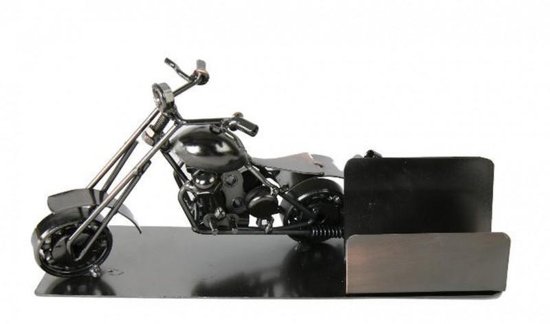 visitenkartenhalter motorrad kupferfarben aus metall. Black Bedroom Furniture Sets. Home Design Ideas