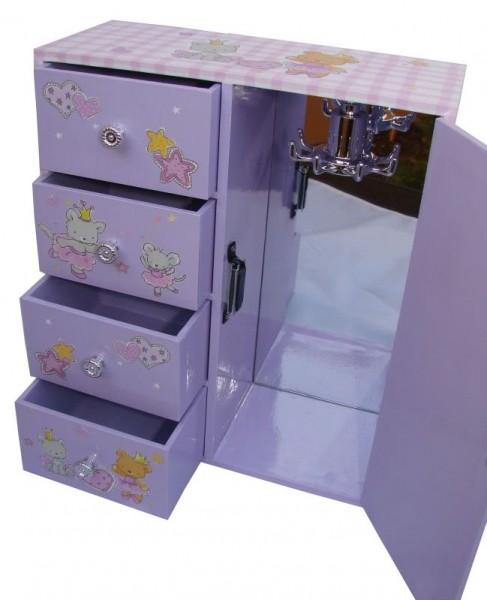 schmuckschrank vicky f r kinder schmuckk stchen top neu ebay. Black Bedroom Furniture Sets. Home Design Ideas