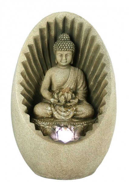 toller ovaler buddha zimmerbrunnen led raumbel fter. Black Bedroom Furniture Sets. Home Design Ideas